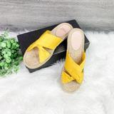 J. Crew Shoes   New J. Crew Twisted Knot Canvas Espadrille Sandals   Color: Yellow   Size: 8
