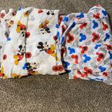 Disney Bedding   Mickey Toddler Sheet Set   Color: Blue/Red   Size: Toddler (Crib)