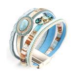 Don't AsK Women's Bracelets Multi - Blue Multicolor Embellished Layered Bracelet