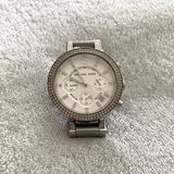 Michael Kors Accessories | Michael Kors; Silver Diamond Face Watch | Color: Silver | Size: Os