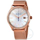 Heritage Quartz Mother Of Pearl Dial Watch - Metallic - Movado Watches