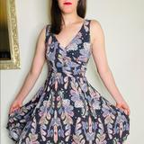 Anthropologie Dresses | Anthropologie Maeve Leslie Paisley Jersey Dress | Color: Brown/Pink | Size: Xs