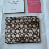 Kate Spade Bags   Kate Spade Staci Small Slim Id Card Holder Wallet   Color: Brown/White   Size: Os