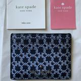 Kate Spade Bags   Kate Spade Staci Small Slim Id Card Holder Wallet   Color: Blue/Silver   Size: Os