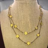 J. Crew Jewelry | J Crew Brand Long Chain Yellow Gem Necklace | Color: Gold/Yellow | Size: Os