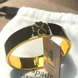 Kate Spade Jewelry | Kate Spade Every Day Spade Black Bangle New | Color: Black/Gold | Size: Os