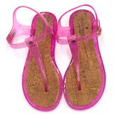 Kate Spade Shoes   Kate Spade Pink Glitter Jelly Cork Sandals Size 7   Color: Pink/Tan   Size: 7
