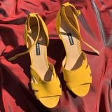Nine West Shoes   Nine West Lily Leather Wedge Heel Sandals   Color: Yellow   Size: 11