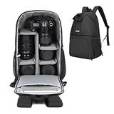 CADeN Camera Backpack, DSLR SLR Camera Bag Fits 12 Inch Laptop for Men Women Waterproof, Camera Case Compatible for Sony Canon Nikon Camera and Lens Tripod Accessories