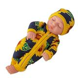Yongmei 10Inch Reborn Baby Doll with Clothes, Realistic Sleeping Reborn Baby Doll, Soft Vinyl Lifelike Newborn Baby Doll, Boy and Girl Toys Toddler Sleeping Infant,Taiyanghua