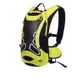 HYMD Running Backpack Bicycle Backpack Ultralight Sport Riding MTB Hydration Backpack 12L Bike Bicycle Cycling Backpack Water Bag (Color : Only Yellow Backpack)