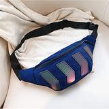 SHIXIMAO Chest Bag for Men Canvas Waist Bag Male Reflective Crossbody Pack Belt Bag Casual Travel Handbags Hip Shoulder Bag (Color : Blue)