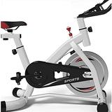 HMBB Exercise Bikes, Belt Drive Indoor Cycling Bike with Magnetic Resistance Exercise Bikes Stationary Bike, Exercise & Fitness Equipment (Color : White)