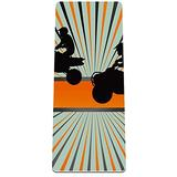 GHFHGF Yoga Mat - Classic 4mm Print Exercise & Fitness Mat for All Types of Yoga, Pilates & Floor Exercises Quad Bike Silhouette 32x72 in