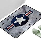 """Long Kitchen Mat Bath Carpet Airplane Star on Round Circle 23.5"""" x 15.5"""" Rectangle Kids Rugs for playroom"""