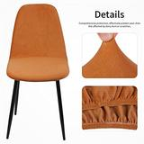 YMBHUO 1/2/4/6 Pack Seat Cover for Chair Washable Removable Armless Shell Chair Cover Banquet Home Hotel Slipcover Seat Cover (Color : G425535, Specification : 2Pack)