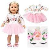 KONGWU 18 Inch Dolls Clothes Accessories Cute Fairy Fancy Dress Party Outfits Costume Gift for 18 Inch American Girl Dolls & Our Generation Journey Girl Doll Children Gift-Style 6 Amazing