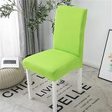 YMBHUO Solid Color Jacquard Chair Covers Spandex for Wedding Dining Room Office Banquet Housse De Chaise Chair Cover (Color : Plain Green, Specification : 2pcs)