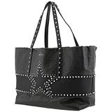 Jimmy Choo Pimlico Star Studded Leather Tote Bag In Black