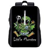 Alin Little Monster Usb Socket School Backpack Strong Surable High Capacity Laptop Backpack Travelling Bag for Boys Girls In School