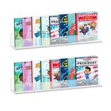 AHPL 5mm Thick Multipurpose Wall Mounted Shelves | Book Shelves for Kids Room | Easy to Install & Sturdy Floating Bookshelf (2 Pack, 24 Inch)