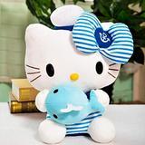 Hello Kitty Plush Toy Navy Cat Stuffied Animal Anime Plushies Kawaii Kitten Plush Doll Children's Birthday Gifts 30cm BlueA