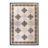 Blue Nile Mills Modern Diamond Geometric Indoor Area Rug Collection, Floral and Diamond Scatter Accent or Area Rug with Durable Latex Spray Backing, 5 x 8', Sand-Olive Green