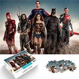 Mini 1000Pcs Jigsaw Puzzle Games for Adults and Children Justice League Movie Logical Wisdom 38x26cm Paper Puzzle