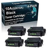 4-Pack Compatible Printer Toner Cartridge Replacement for HP 10A Q2610A Printer Toner use for HP 2300 2300d 2300dn 2300dtn 2300L 2300n Printer (Black, High Yield)