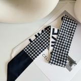 Urban Outfitters Accessories | Houndstooth Black White Print Hair Scarf | Color: Black/White | Size: Os