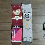 Disney Accessories   Disney Theme Parks Pirates Of The Caribbean Socks   Color: Gray/Pink   Size: Os