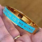 Kate Spade Jewelry | Kate Spade Blue Enamel Gold Bangle Bracelet | Color: Blue/Gold | Size: Os