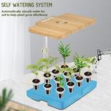 CHUNBIEGSR INC ED Height Adjustable Automatic 12-Pod Indoor Garden Germination Kit DIY in White, Size 18.7 H x 18.3 W x 7.6 D in   Wayfair