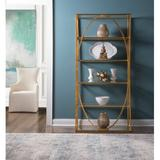 Artistica Home Ellipse Iron Etagere Bookcase in Yellow, Size 80.0 H x 19.0 D in   Wayfair 01-2234-991-48