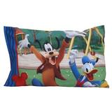 Disney Mickey Mouse 2 Piece Toddler Bedding Set Polyester in Blue/Red/Yellow | Wayfair 6011396