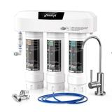 Frizzlife Under Sink Water Filter System w/ Brushed Nickel Faucet SP99-NEW, NSF 42&53 Certified 3-Stage 0.5 Micron Removes 99.99% Lead, Chlorine