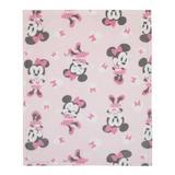 Disney Fleece Baby Blanket Fleece in Black/Pink/White, Size 36.0 H x 30.0 W x 0.38 D in   Wayfair 8374501P
