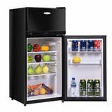 Costway 3.4 cu. ft. Freestanding Mini Fridge w/ Freezer Plastic in Black, Size 38.6 H x 17.5 W x 16.7 D in | Wayfair EP22756BK