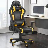 Chunhelife Gaming Chair/Office Chair Faux Leather in Yellow, Size 52.0 H x 28.0 W x 38.6 D in   Wayfair CKK-W46119155