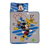 """Disney Mickey Mouse Clubhouse Buddies 0.75"""" Nap Mat Polyester in Blue/Yellow, Size 0.75 H x 32.5 W x 46.0 D in 
