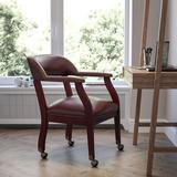 Flash Furniture Gray Fabric Guest ChairManufactured Wood in Orange, Size 26.0 H x 25.0 W x 18.0 D in | Wayfair B-Z100-OXBLOOD-GG