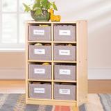 Guidecraft Edq Essentials Cubby Bin Storage Organizer - Natural Wood in White, Size 30.0 H x 13.0 W x 19.5 D in | Wayfair G80216