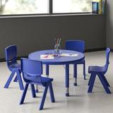 "Flash Furniture 5 Piece Circular Activity Table & 20"" H Chair Set Metal, Size 23.75 H x 45.0 W x 45.0 D in   Wayfair"