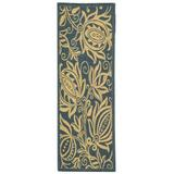 Safavieh Blue/Ivory Area Rug in White, Size 79.0 H x 27.0 W in | Wayfair CY2961-3103-27