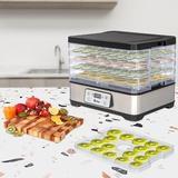 Ktaxon 5 Tray Food Dehydrator in Gray, Size 10.24 H x 14.17 W x 11.61 D in | Wayfair 958482639914