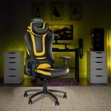 JUXAMI Gaming Chair For Teens, PU Leather Ergonomic Massage Chairs, Reclining Chair w/ Massage, Remote Control in Yellow   Wayfair