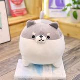 RUOLANYUE Anime Shiba Inu Plush Stuffed Sotf Pillow Doll Cartoon Doggo Cute Shiba Soft Toy in Gray | Wayfair I02WDL81207470GY_jhu