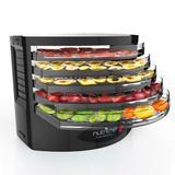 NutriChef 5 Tray Electric Machine Food Dehydrator in Black, Size 9.5 H x 13.0 W x 13.0 D in | Wayfair AZPKFD19BK