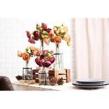Primrue Ranunculus Floral Arrangement in Vase Silk in Pink, Size 17.0 H x 9.0 W x 9.0 D in | Wayfair 447FF85E202C4BC7A86834EABC40AEFB