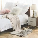Everly Quinn Faux Fur Rug Soft Faux Peacock Fluffy Rugs Luxurious Carpet Rugs Area Rug For Bedroom, Living Room Carpet Faux Fur in White | Wayfair